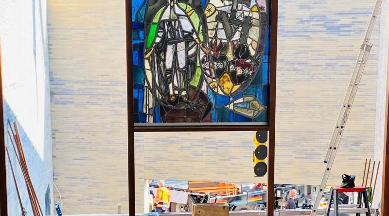 Glas-in-Loodraam geplaatst in de BMV Spaubeek